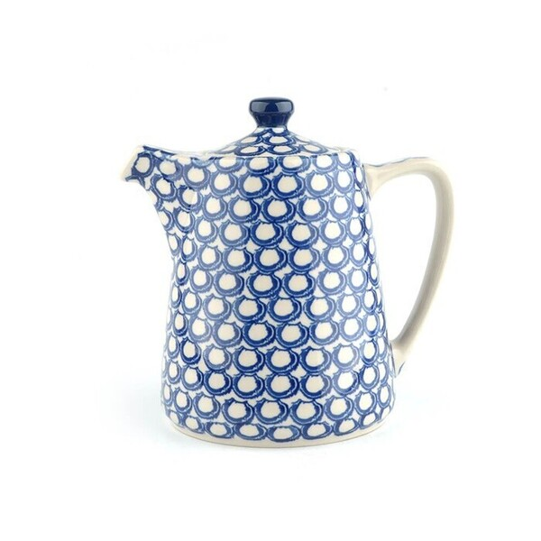 tea pot straight / koffiepot blue coral